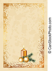 old fashioned christmas card - Vector old fashioned...