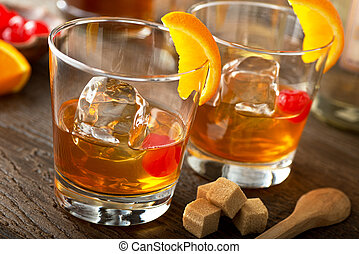Old Fashioned Cocktail - Delicious old fashioned cocktails...