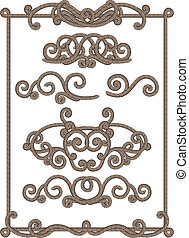cord frame - old-fashioned cord frame