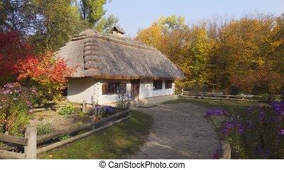 Old Fashioned Farm House at Ukrainian Cultural Village - ...