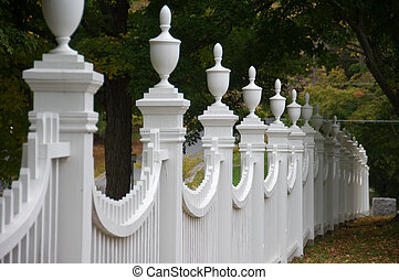 Old-fashioned fence