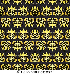 Old fashioned floral royal seamless texture