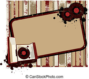 Old-fashioned record player background II - Vintge...