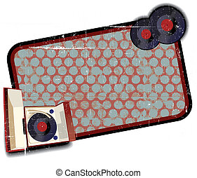 Old-fashioned record player background