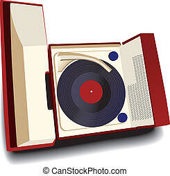 Old-fashioned record player