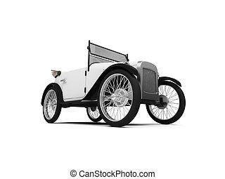 Old fashioned retro car - isolated white Old fashioned retro...
