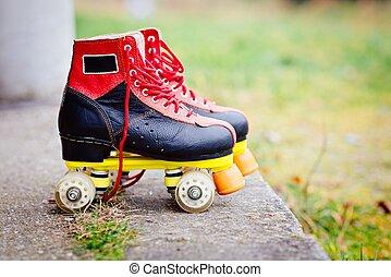 Old fashioned roller skates