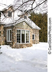 Old fashioned stone cottage in the country
