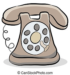 Old Fashioned Telephone - An image of a old fashioned...