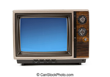 Television - Old-fashioned Television with white background
