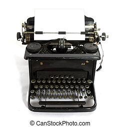 old-fashioned typewriter - black old-fashioned typewriter...
