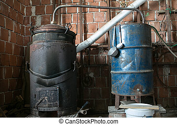 Old Fashioned way of cooking liquor for home use