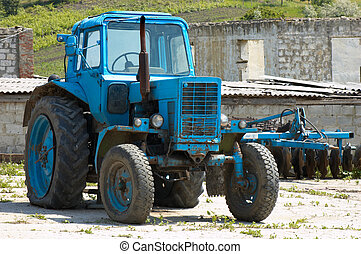 old fashoned agricultural tractor