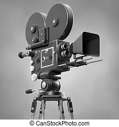 Old Fashoned Movie Camera