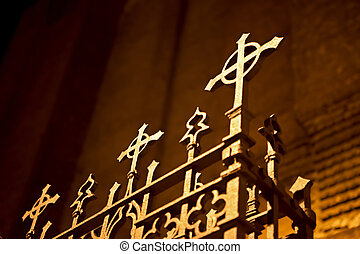 Old fence of a church