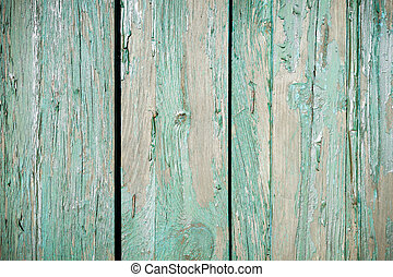 Old fence with peeling paint