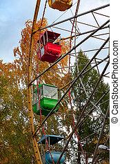 Old ferris wheel in a park