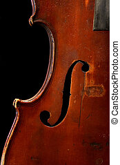 old fiddle - Detail of the old musical instrument