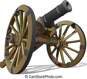 old field gun - Vector detailed image of typical field gun...