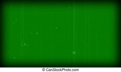 old film effect - green screen