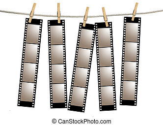 Old Film Negative Filmstrips - Blank 35mm Film Strip...