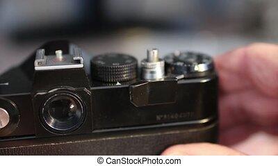 old film photocamera - film photocamera film shooting macro...
