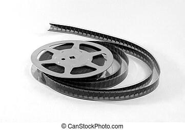 old film strip with