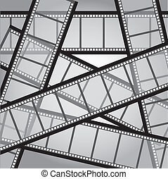 film stripes - old film stripes background, black and white....