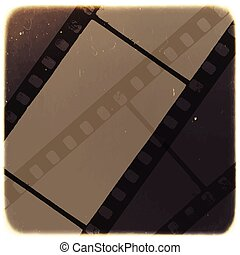 Old Filmstrip Abstract Background. Vector
