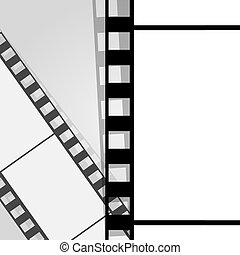 Old filmstrip. Movie ending frame.