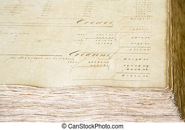 """Old financial report - Book (""""grootboek"""") used by ..."""