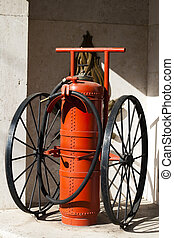 Old fire extinguisher
