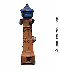 old fire hydrant isolated