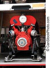 old fire pump engine
