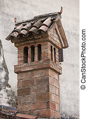 old fireplace on the roof