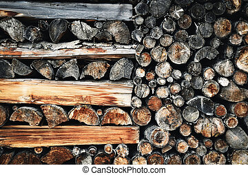 old Fireplace wood