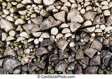 Old firewood pile