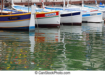 Old fisherboats in Cassis - Old fisherboats in the city of ...