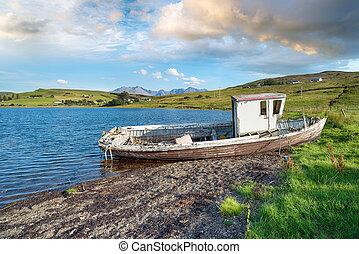 Old fishing Boat on the Isle of Skye