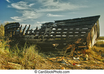 old fishing boat wreck