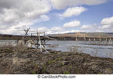Old Fishing Platform by The Dalles Bridge