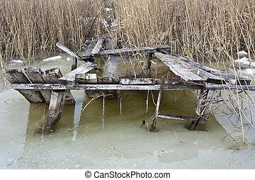 Old fishing platform