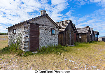Old fishing village on Fårö island, Sweden - Old fishing ...