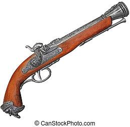 Old flintlock - Antique flintlock blunderbuss pistol ...
