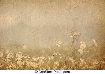 old flower paper textures - perfect background with space...