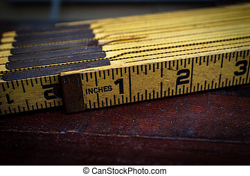 Old Folding Imerial Ruler