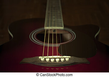 Old folk guitar grunge style.