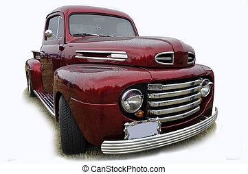 Old Ford Pick up restored as a hot rod