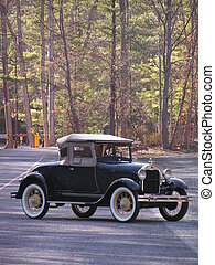 old Ford sharpened - Antique Ford in a parking lot in the...