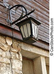 old forged antern in Old Nessebar. Vintage